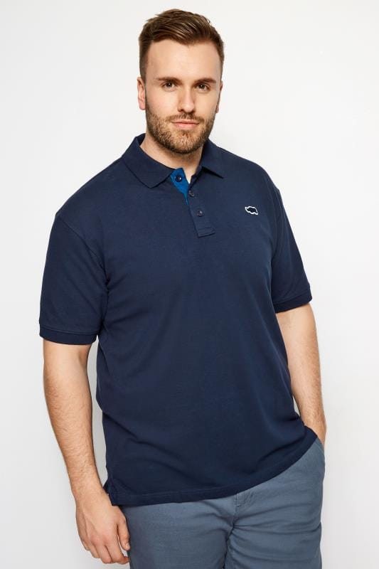 Polo Shirts BadRhino Navy Premium Stretch Polo Shirt 201002
