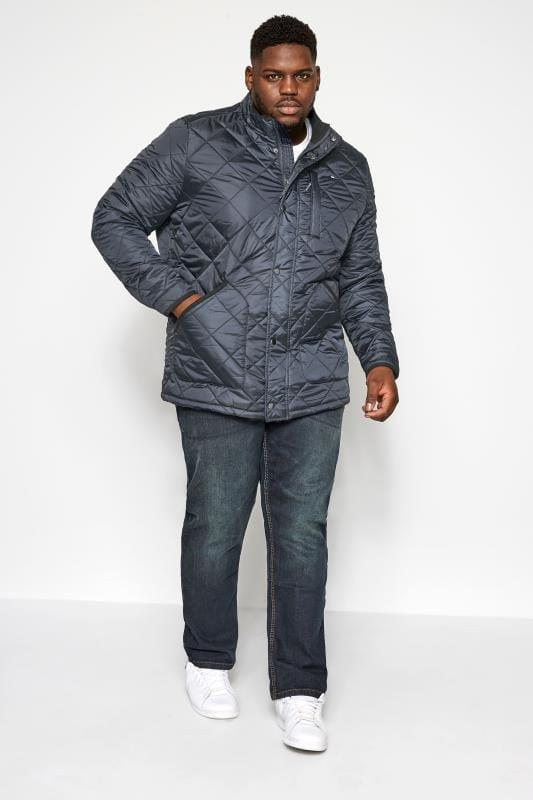 BadRhino Navy Quilted Jacket