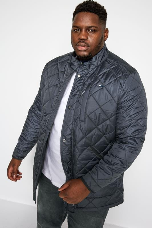 Plus Size Jackets BadRhino Navy Quilted Jacket