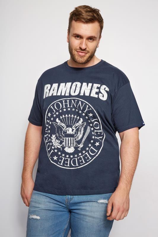 T-Shirts BadRhino Navy Ramones Logo T-Shirt 200998