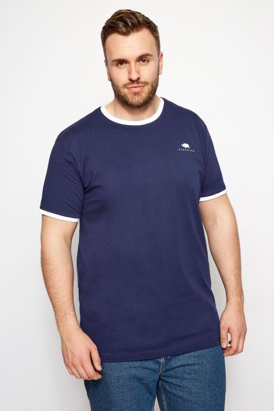 BadRhino Navy Ringer T-Shirt