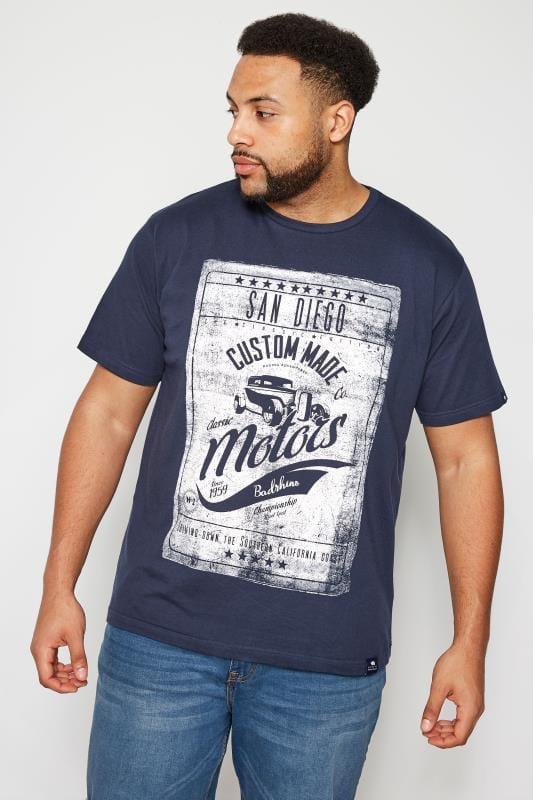 T-Shirts BadRhino Navy 'San Diego' T-Shirt 201044