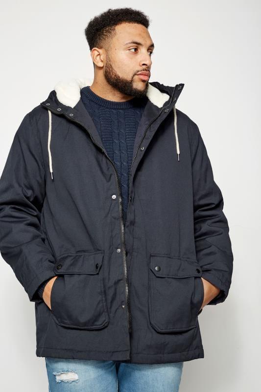 Coats BadRhino Navy Sherpa Parka Jacket 200647