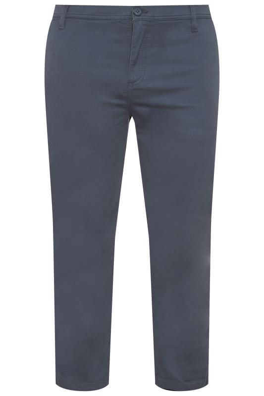 Plus Size Chinos & Cords BadRhino Navy Stretch Straight Leg Chinos