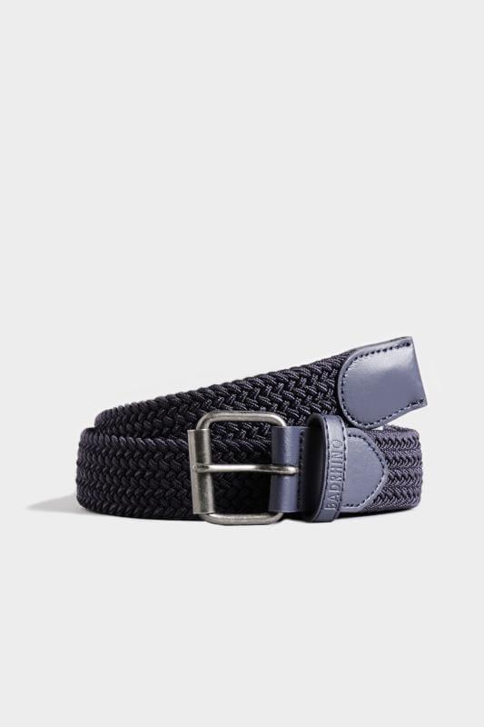 Plus Size Belts & Braces BadRhino Navy Stretch Woven Belt