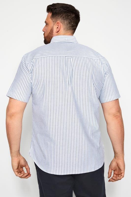 BadRhino Blue Striped Short Sleeved Oxford Shirt_7147.jpg