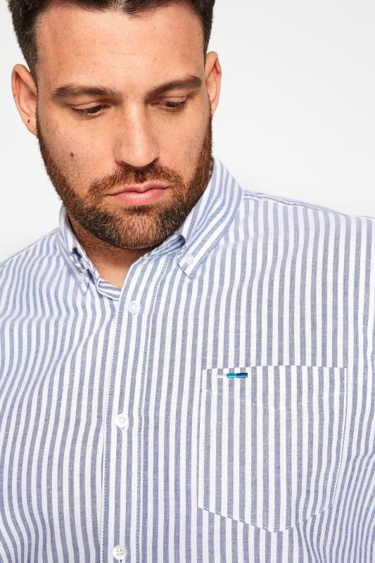 BadRhino Blue Striped Short Sleeved Oxford Shirt_b890.jpg