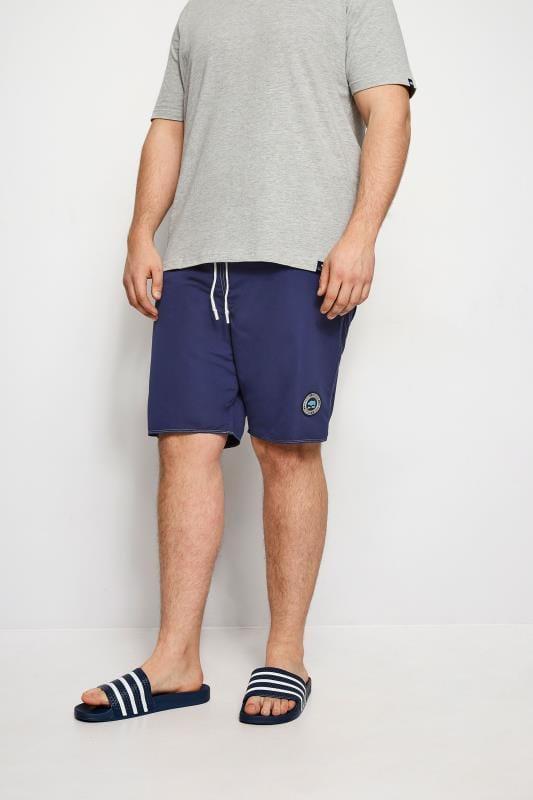 Plus Size Swim Shorts BadRhino Navy Swim Shorts