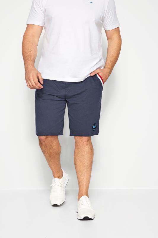 BadRhino Navy Tape Jogger Shorts