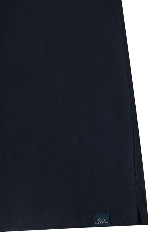 BadRhino Navy Textured Polo Shirt