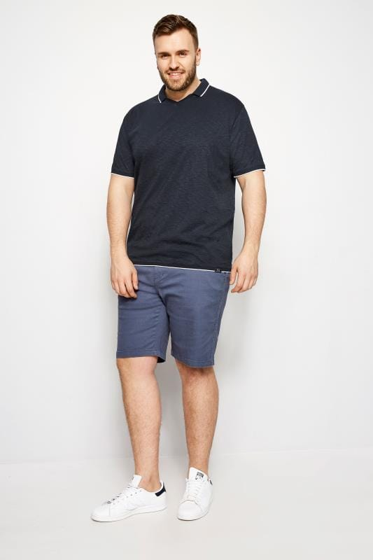 BadRhino Navy Trophy Neck Polo Shirt