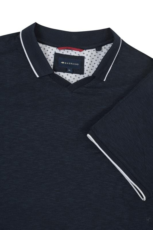BadRhino Navy Trophy Neck Polo Shirt