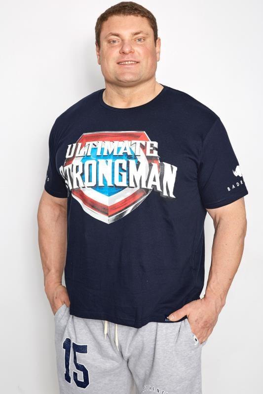 BadRhino Navy 'Ultimate Strongman' T-Shirt