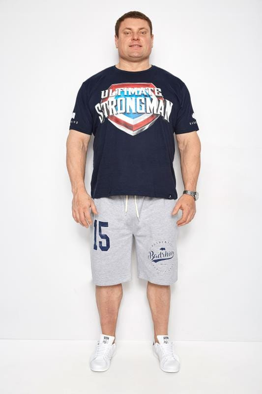 BadRhino Navy 'Ultimate Strongman' T-Shirt