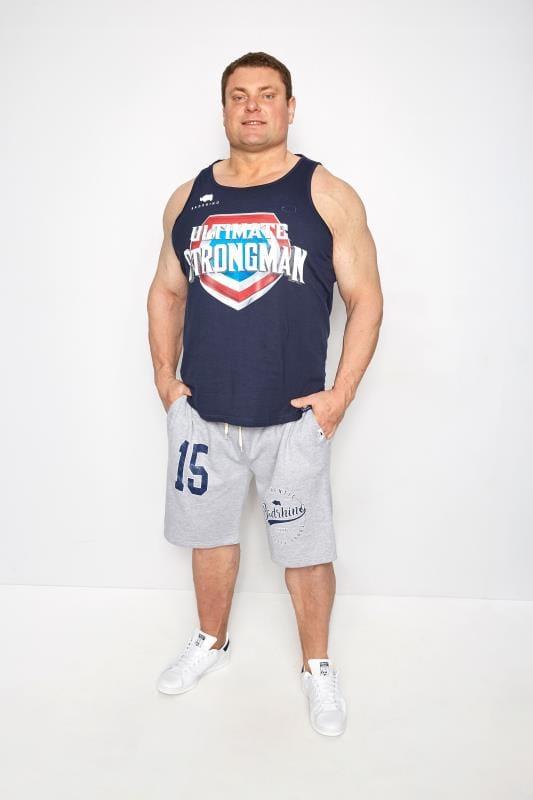 BadRhino Navy 'Ultimate Strongman' Vest Top