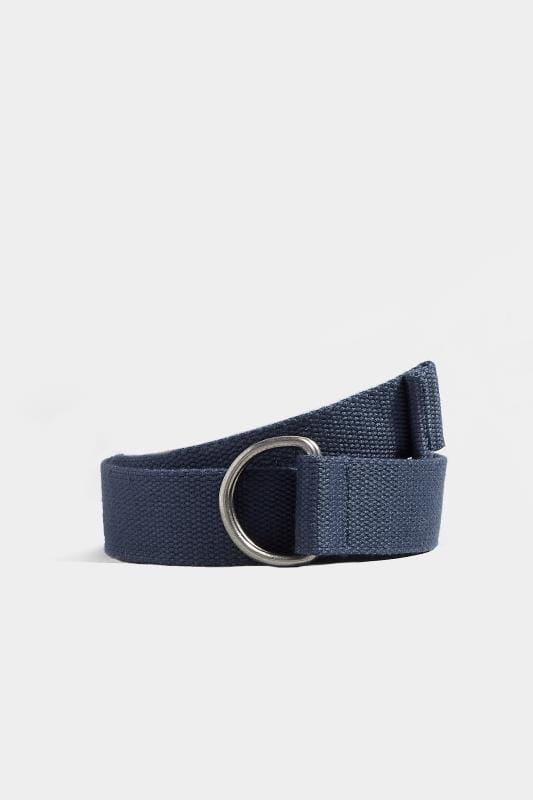 Plus Size Belts & Braces BadRhino Navy Woven Web Belt