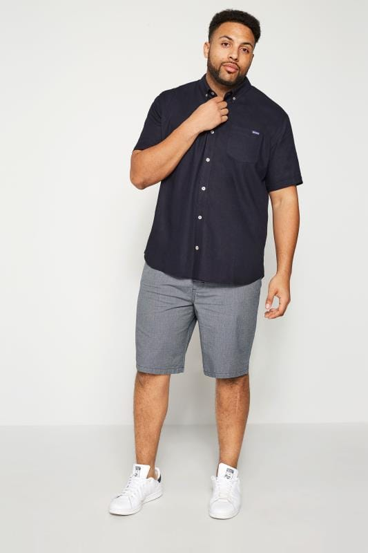 BadRhino Navy Linen Mix Shirt