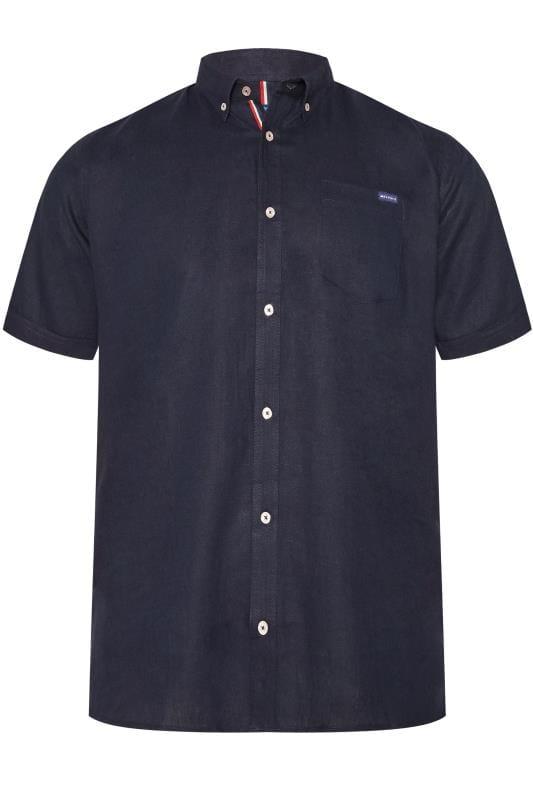 BadRhino Navy Linen Mix Shirt
