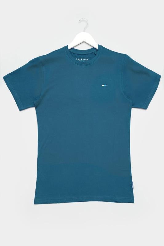 Men's Casual / Every Day BadRhino Ocean Blue Plain T-Shirt