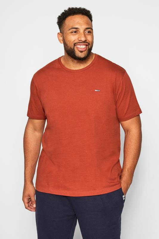 Plus Size T-Shirts BadRhino Orange Crew Neck T-Shirt