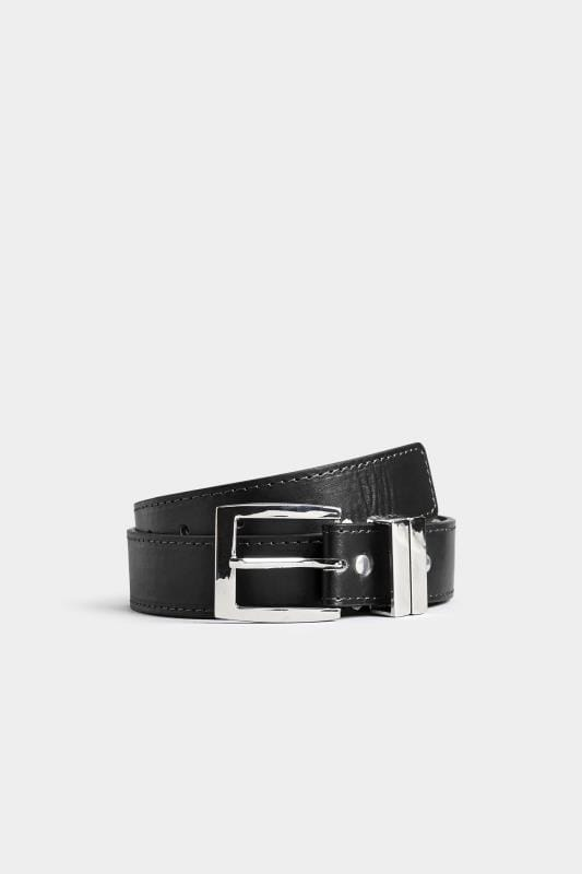 Plus-Größen Belts & Braces BadRhino Plain Black Bonded Leather Belt