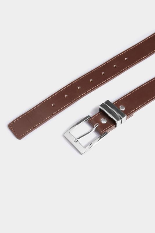 BadRhino Plain Brown Bonded Leather Belt
