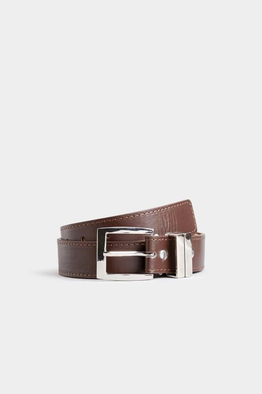 Belts BadRhino Plain Brown Bonded Leather Belt 110441