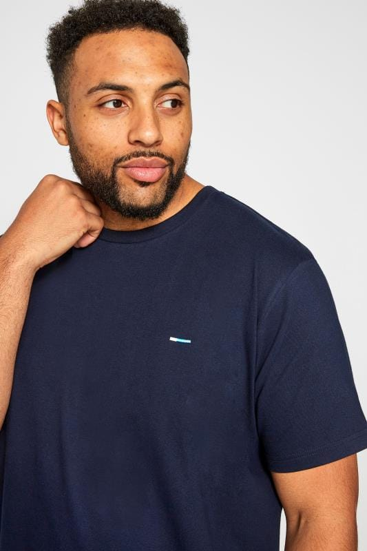 BadRhino Plain Navy Crew Neck T-Shirt