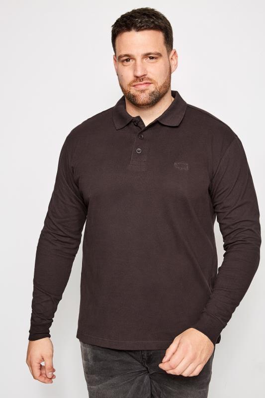 BadRhino Purple Long Sleeve Polo Shirt