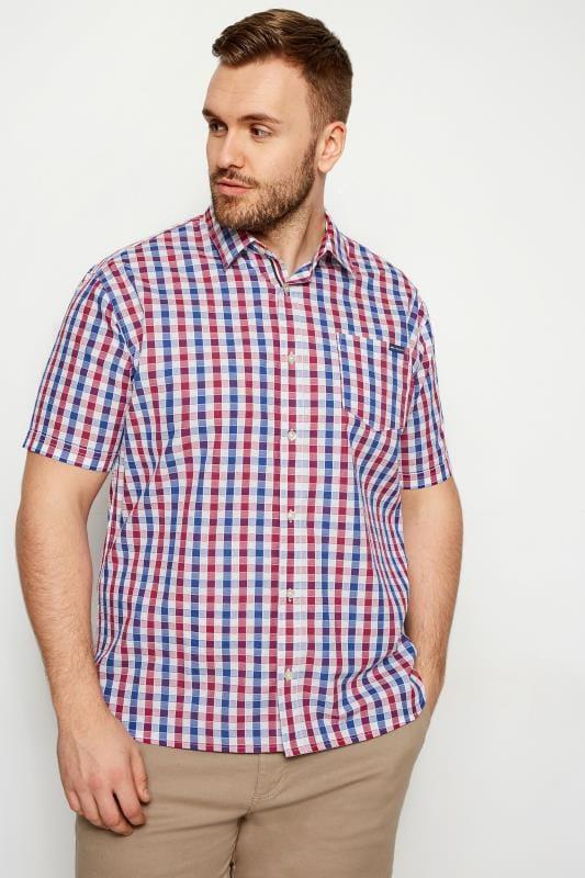 BadRhino Red & Blue Gingham Short Sleeve Shirt