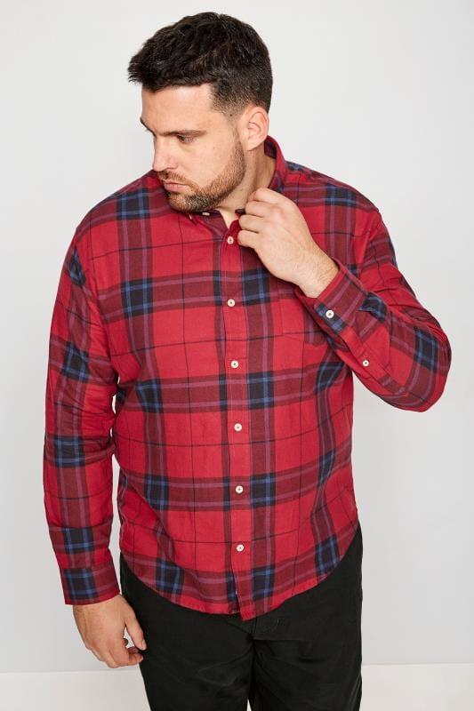 BadRhino Red Brushed Checked Shirt