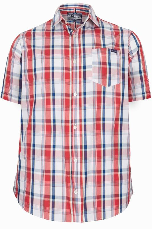 BadRhino Red Check Short Sleeve Shirt