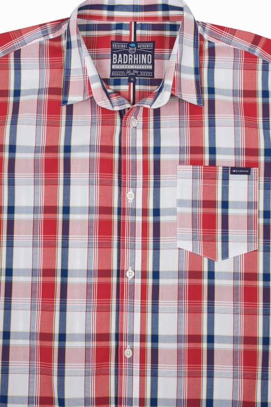 BadRhino Red Check Short Sleeve Shirt