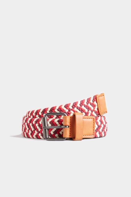 BadRhino Red & Multi Stretch Woven Belt