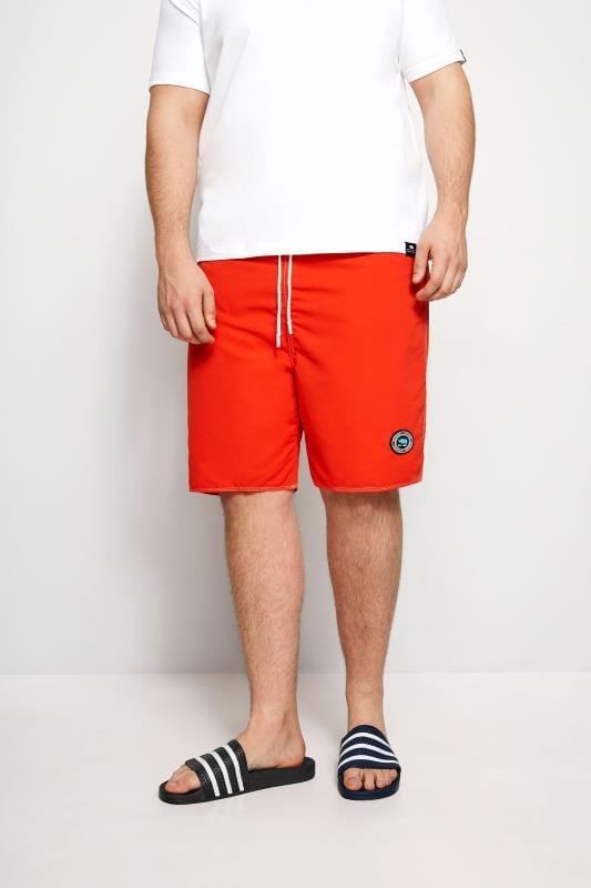 Plus Size Swim Shorts BadRhino Red Swim Shorts