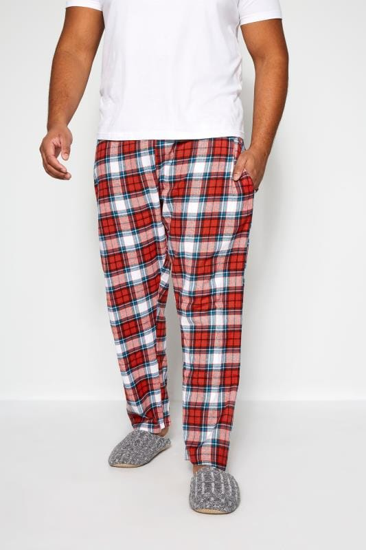 BadRhino Red Woven Check Bottoms