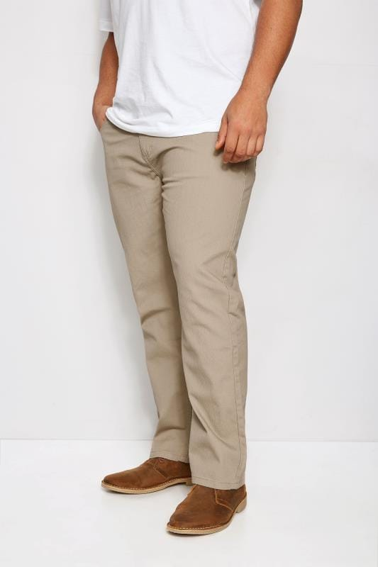 Plus Size Chinos & Cords BadRhino Stone Bedford Cord Trousers