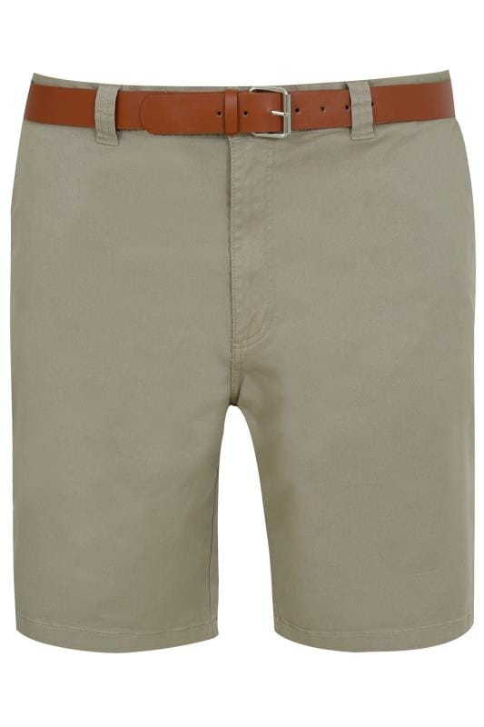 Men's Chino Shorts BadRhino Stone Five Pocket Chino Shorts With Belt
