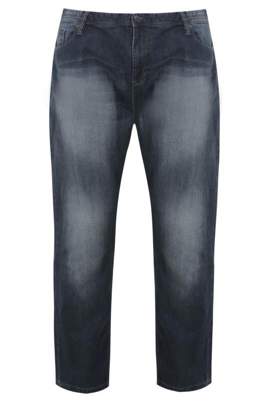 BadRhino Stone Wash Denim Straight Leg Stretch Jeans