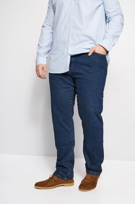 Straight BadRhino Stonewash Denim Straight Leg Jeans 110393