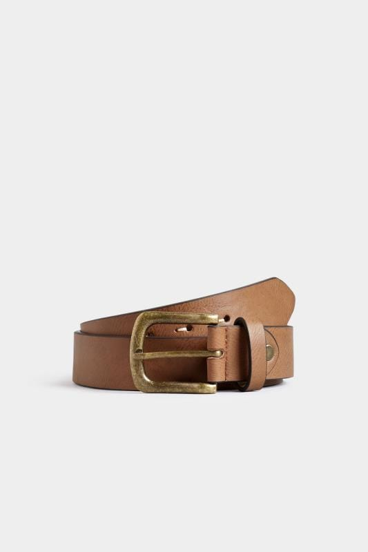 Plus-Größen Belts & Braces BadRhino Tan Bonded Leather Belt