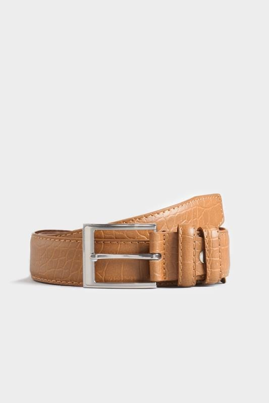 Plus Size Belts & Braces BadRhino Tan Textured Bonded Leather Belt