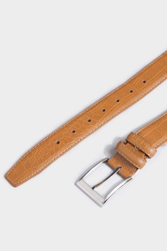 BadRhino Tan Textured Bonded Leather Belt