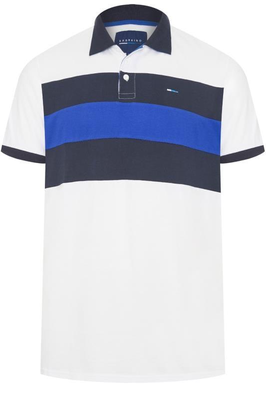 Polo Shirts BadRhino White Colour Block Polo Shirt 201304