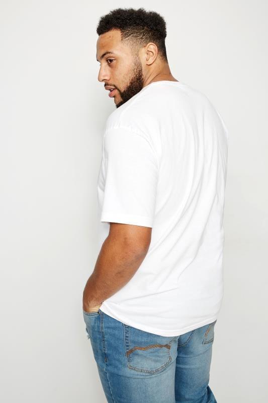 BadRhino White Crew Neck Basic T-Shirt