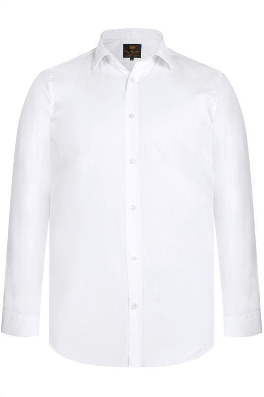 Men's Smart Shirts SCOTT & TAYLOR White Poplin Shirt