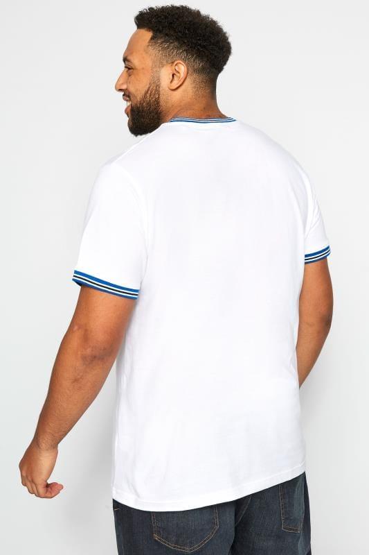 BadRhino White Striped Ribbed T-Shirt
