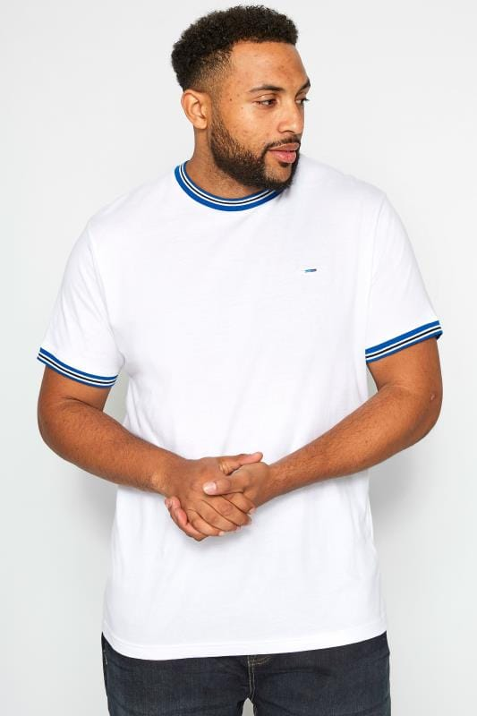 BadRhino White Striped Ribbed T-Shirt