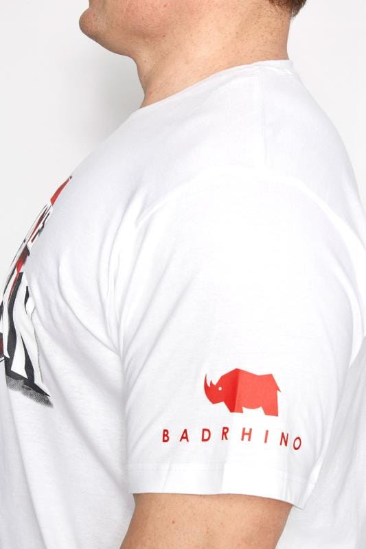 BadRhino White 'Ultimate Strongman' T-Shirt