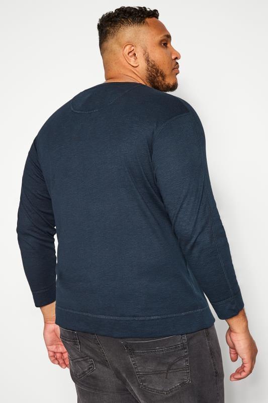 BAR HARBOUR Navy Marl Grandad Sweatshirt
